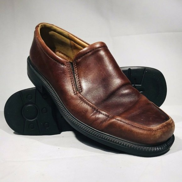 Ecco Leather Dress Shoes Slip Ons EUR Size US 11